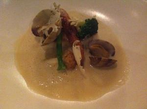Turbot & clam chowder