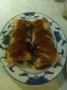 Tofu vellen met garnalen